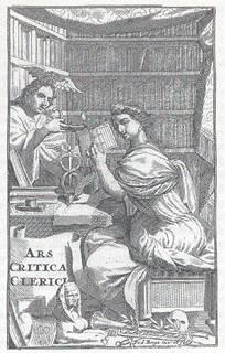 Das Handwerk der Philologie, Kupferstich von 1697